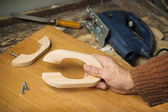 Manufacture of furniture handles alder — Stock Photo