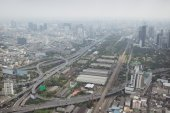 Smog over Bangkok in city center — Stock Photo