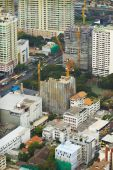 View from heights construction of houses in Bangkok — Stock Photo