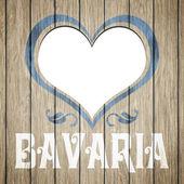 Wooden heart Bavaria — Stock Photo