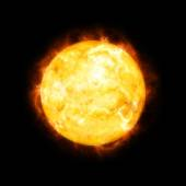 Detailed sun in space — Stock Photo