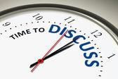 Relógio com tempo para discutir — Fotografia Stock
