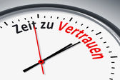 Uhr mit Text — Stock Photo