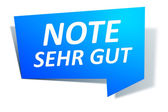 Web Element Note sehr gut — Stock Photo