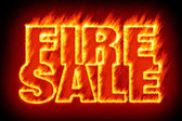 Fire sale in flames — Stock Photo