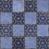 Blue tiles background — Stock Photo