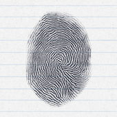 Fake finger print — Stock Photo