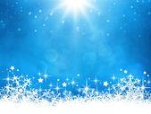 Blue christmas background — Stockfoto