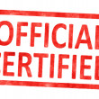 Stamp official certified — Stock Photo #60116311
