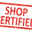 Stamp shop certified — Stock Photo #60116421