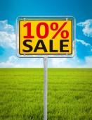 10 percent sale sign — Stock Photo