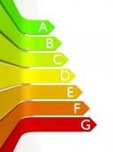 Energy efficiency graphic — Stock Photo
