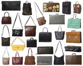 Large Group of isolated bags — Stock Photo