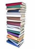 Pile of Books with different colors — Stock Photo