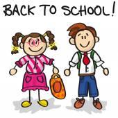 Back to school cartoon characters — Stockvektor