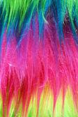 Neon color faux fur background vertical — Stock Photo