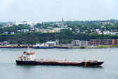 Oil tanker on the St Lawrence — Foto Stock