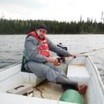 Man fishing — Stock Photo #69013443