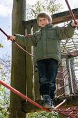 Blond boy  at playground — 图库照片