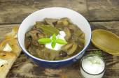 cream soup with boletus — Stock fotografie