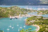 Many Yachts in Protected Harbors — ストック写真