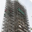 Scaffolding Around Massive Steeple — Stock Photo #52722957