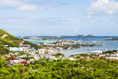 View of Bay on St Martin from Hill — Stock Photo