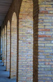 Arched Brick Columns — Stock Photo