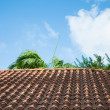 Red Tile Roof Under Tropical Skies — Stock Photo #56985385