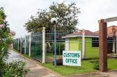 Customs Office in Tropics — Stock Photo