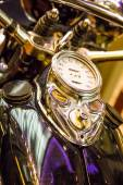 Speedometer and Gas Tank on Custom Motorcycle — 图库照片
