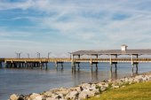 St Simons Pier and Brunswick Bridge — Stock Photo