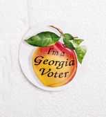 Georgia Voter Sticker — Stock Photo