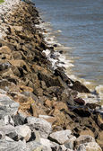 Old Granite Stone Seawall — Stock Photo