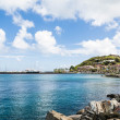 Rock Seawall Toward Caribbean Shopping Mal — Stock Photo #59354713