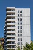 Balconies on Concrete and Glass Condo Building — Stok fotoğraf