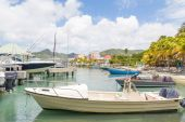 Boats in Philipsburg Harbor — Stock Photo