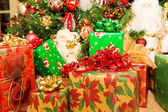 Many Gifts Under Decorated Tree — Stock Photo