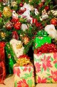 Santa and Presents — Stock Photo
