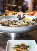 Oysters in Seafood Restaurant — Stockfoto