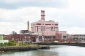 Power Station on Shipping Channel — Stock Photo