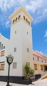 Clock and Church in Philipsburg — Stock Photo