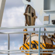 Yellow and Black Pulley on Industrial Ship — Stock Photo #63053297