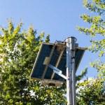 Solar Panel on Wood Pole — Stock Photo #63194441