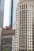 Scaffolding on Chicago Construction — Stock Photo