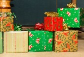 Colorful Christmas Presents — Stock Photo