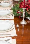 Silverware on Formal Table — Stock Photo