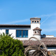 Tile Roof on Spanish Style Beach Home — Stock Photo #65502181