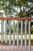 Large Wind Chimes in Park — Stock Photo