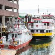 Fire Boat and Ferries in Portland — Stock Photo #66275569